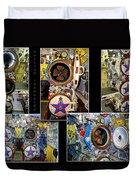 Torpedo Tubes Collage Russian Submarine Duvet Cover