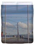 Torquay Pier Devon Duvet Cover