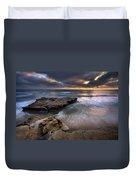 Torrey Pines Flat Rock Duvet Cover