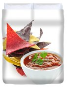 Tortilla Chips And Salsa Duvet Cover