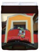 Tortilla Jos Signage Downtown Disneyland Duvet Cover
