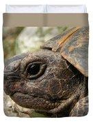 Tortoise Portrait In Macro Duvet Cover