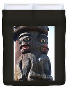 Totem Twins Duvet Cover