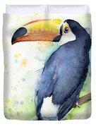 Toucan Watercolor Duvet Cover