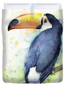 Toucan Watercolor Duvet Cover