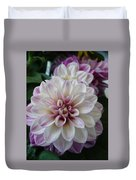 Touch Of Pink Dahlia Duvet Cover