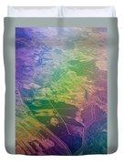Touch Of Rainbow. Rainbow Earth Duvet Cover by Jenny Rainbow