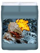 Touching In Time Duvet Cover