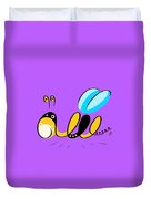 Thoughts And Colors Series Bee Duvet Cover