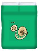 Thoughts And Colors Series Snail Duvet Cover