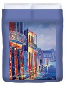 Toulouse At Bourbon New Orleans Duvet Cover