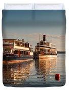 Tour Boats Lake Geneva Wi Duvet Cover