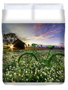 Tour De France Duvet Cover by Debra and Dave Vanderlaan