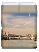 Tour Eiffel And Alexandre IIi Bridge - Paris  Duvet Cover