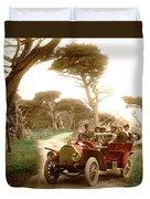 Royal Tourist Touring Car On The 17 Mile Drive Pebble Beach California Circa 1910 Duvet Cover