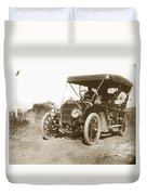 Touring Car On The Road California 1906 Duvet Cover