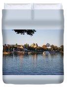 Touring On The World Showcase Lagoon Walt Disney World Duvet Cover