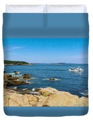 Touring The Rocky Shore Duvet Cover