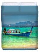 Tourist Longboat Duvet Cover