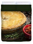 Tourtiere Meat Pie Duvet Cover