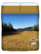 Towards Hand Lake And Mt Jefferson Duvet Cover