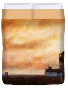 Towards The Shore Duvet Cover by Pixel Chimp