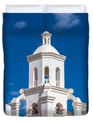 Tower At Mission San Xavier Del Bac Duvet Cover