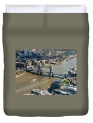 Tower Bridge And London City Hall Aerial View Duvet Cover