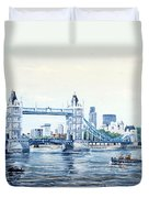 Tower Bridge And The City Of London Duvet Cover