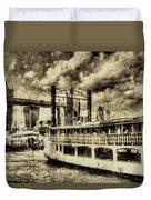 Tower Bridge And The Elizabethan Vintage Duvet Cover