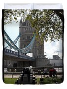 Tower Bridge In The City Of London Duvet Cover
