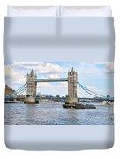 Tower Bridge Panorama Duvet Cover
