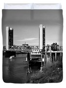 Tower Bridge Sacramento Duvet Cover