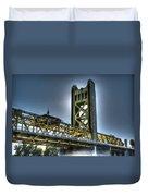 Tower Bridge Sacramento Duvet Cover