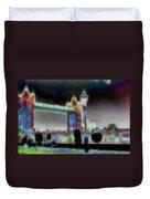 Tower Bridge Surrealism Duvet Cover