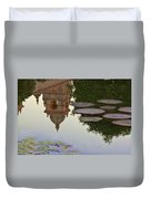 Tower In Lotus Position Duvet Cover