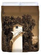 Tower In Sepia Duvet Cover