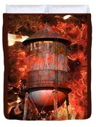 Tower Inferno Duvet Cover