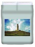 Tower Of Hercules La Coruna Duvet Cover