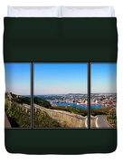 Tower Over The City Triptych Duvet Cover