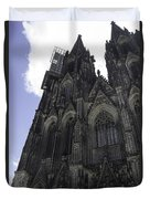 Tower Scaffolding Cologne Cathedral Duvet Cover