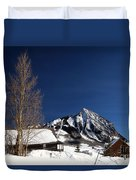 Towering Above Crested Butte Duvet Cover