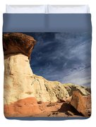 Towering Above The Landscape Duvet Cover