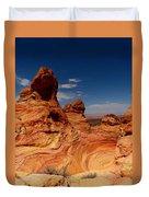 Towering Red Rocks Duvet Cover