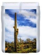Towering Saguaro Duvet Cover