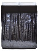Towering Trees Over Ferns In Blue Duvet Cover