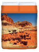 Towers Along The Waterpocket Duvet Cover