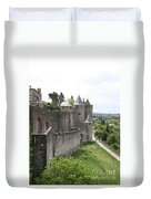 Towers And Townwall  - Carcassonne Duvet Cover