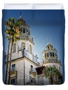 Towers At Hearst Castle - California Duvet Cover