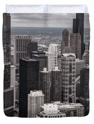 Towers Of Chicago Duvet Cover